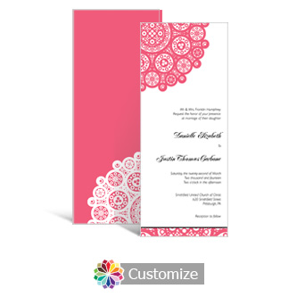 Bold Geometric 3.625 x 8.875 Tea-Length Wedding Invitation