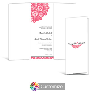 Bold Geometric 3.625 x 8.875 Tri-Fold Wedding Invitation