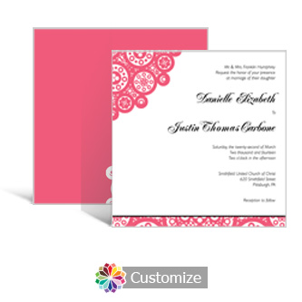 Bold Geometric 5.875 x 5.875 Square Wedding Invitation