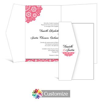 Bold Geometric 5 x 7.875 Double Folded Wedding Invitation