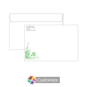 Customizable Floral Vines Envelopes for Wedding Invitations