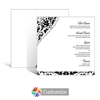 Ivy Lace 5.875 x 5.875 Square Wedding Menu
