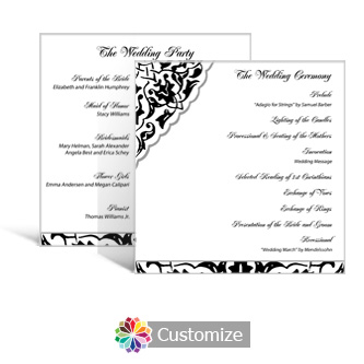 Ivy Lace 5.875 x 5.875 Square Wedding Program