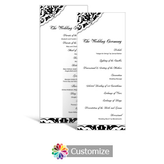 Ivy Lace 3.625 x 8.875 Tea-Length Wedding Program
