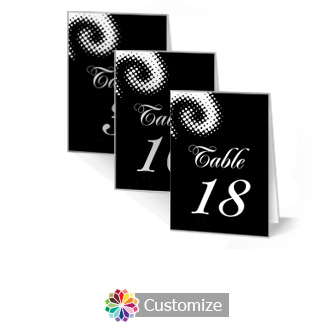 Matrix Swirl 3.5 x 5 Large Folded Wedding Table Number