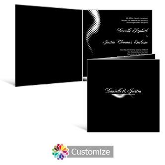 Matrix Swirl 6 x 6 Square Folded Wedding Invitation