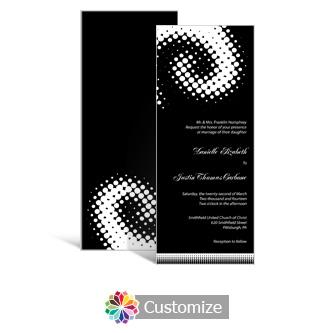 Matrix Swirl 3.625 x 8.875 Tea-Length Wedding Invitation