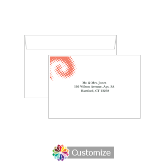 Custom Printing on Wedding Matrix Swirl Response Card Envelopes