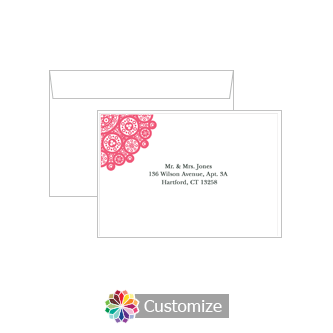 Custom Printing on Wedding Bold Geometric Response Card Envelopes
