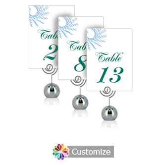 Spiral Wave 3.5 x 5 Flat Wedding Table Number for Stand