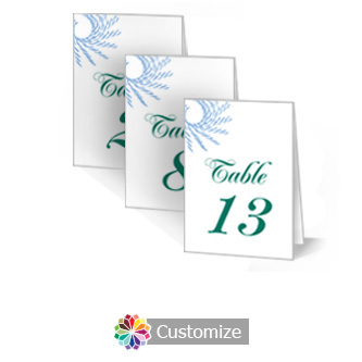 Spiral Wave 3.5 x 5 Large Folded Wedding Table Number