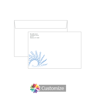 Custom Spiral Wave Envelopes for Wedding Thank You Card