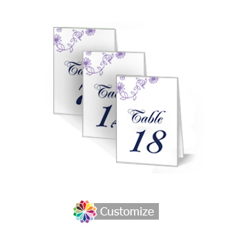 Lilac Flowers 2.5 x 3.5 Folded Table Number