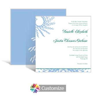 Spiral Wave 5.875 x 5.875 Square Wedding Invitation