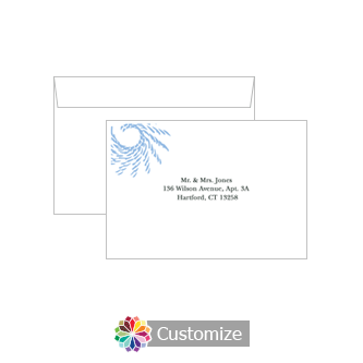 Custom Printing on Wedding Spiral Wave Response Card Envelopes