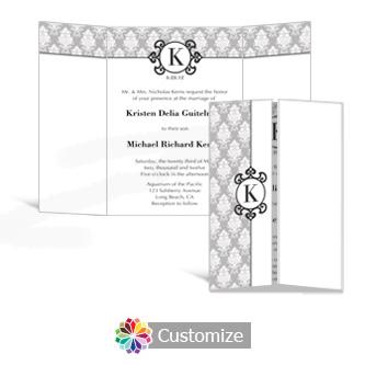 Monogram 5 x 7 Gate-Fold Wedding Invitation