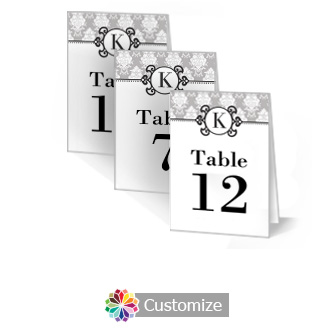 Monogram 3.5 x 5 Large Wedding Folded Table Number