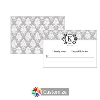 Monogram 5 x 3.5 RSVP Enclosure Card - Reception