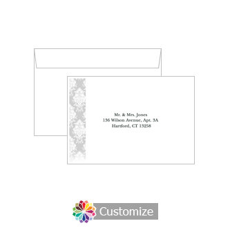Custom Printing on Wedding Monogram Response Card Envelopes