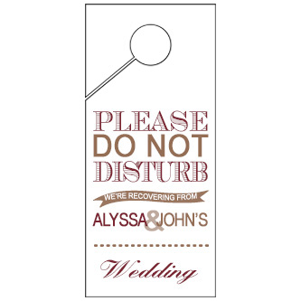 Neutral Wedding Door Hanger 4x9