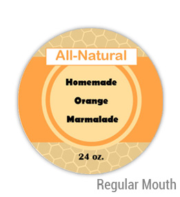 Orange Marmalade Regular Mouth Ball Jar Topper Insert