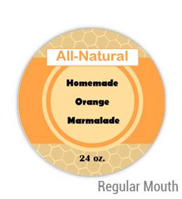 Orange Marmalade Regular Mouth Ball Jar Topper Insert