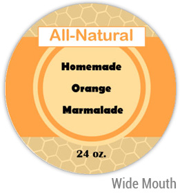 Orange Marmalade Wide Mouth Ball Jar Topper Insert