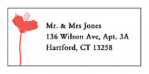 Orchid Address Wedding Labels