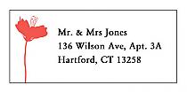 Orchid Address Wedding Labels