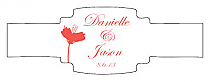 Orchid Buckle Cigar Band Wedding Labels