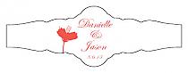 Orchid Fancy Cigar Band Wedding Labels
