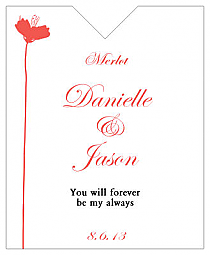 Orchid Wine Wedding Label 3.25x4