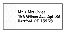 Paisley Address Wedding Labels