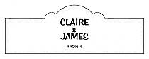 Paisley Billbord Cigar Band Wedding Labels
