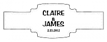 Paisley Buckle Cigar Band Wedding Labels
