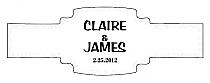Paisley Buckle Cigar Band Wedding Labels