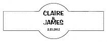 Paisley Cigar Band Wedding Labels