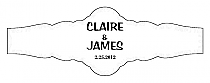 Paisley Fancy Cigar Band Wedding Labels