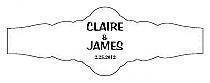 Paisley Fancy Cigar Band Wedding Labels