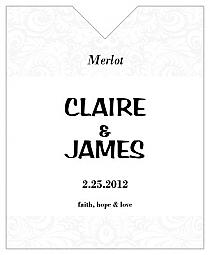 Paisley Wine Wedding Label 3.25x4
