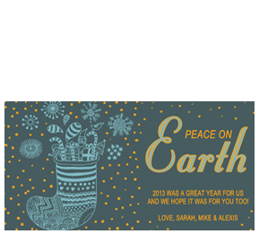 customizable christmas stockings corporate greeting cards peace on earth christmas card - Peace On Earth Christmas Cards