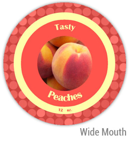 Peaches Wide Mouth Ball Jar Topper Insert