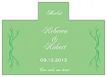 Personalized Honeymoon Waves Rectangle Wine Wedding Label 4.25x3