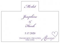 Personalized Always Swirly Rectangle Wine Wedding Label 4.25x3