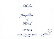 Personalized Believe Swirly Rectangle Wine Wedding Label 4.25x3