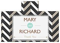 Personalized Chalkboard Chevron Rectangle Wine Wedding Label 4.25x3