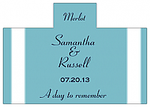 Personalized Classic Rectangle Wine Wedding Label 4.25x3