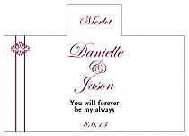 Personalized Decor Rectangle Wine Wedding Label 4.25x3