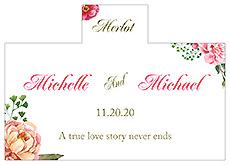 Personalized Floral Elegant Summer Poppy Rectangle Wine Wedding Label 4.25x3