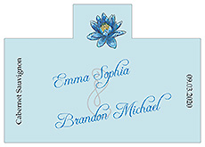 Personalized Floral Fairytale Flower Rectangle Wine Wedding Label 4.25x3